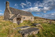 Graveyard Digital Art Prints - Welsh Church Print by Adrian Evans
