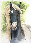 Horse Drawing Painting Prints - Welsh Cob Print by Angel  Tarantella