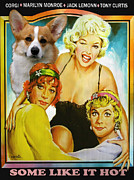Print Like Paintings - Welsh Corgi Pembroke Art Canvas Print - Some Like Hot Movie Poster by Sandra Sij