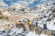 Snow Digital Art Posters - Welsh Gate  Poster by Adrian Evans