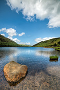 Summer Digital Art Metal Prints - Welsh Lake Metal Print by Adrian Evans