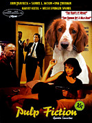 Pulp Fiction Paintings - Welsh Springer Spaniel Art Canvas Print - Pulp Fiction Movie Poster by Sandra Sij