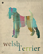 Dog Art Posters - Welsh Terrier Vinatge Poster by Brian Buckley