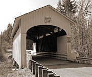 Tim Moore Prints - Wendling Bridge Print by Tim Moore