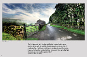 Quaker Digital Art Metal Prints - Wensleydale road Metal Print by Mike Hoyle