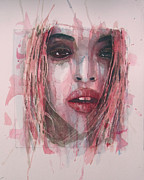 Lips  Painting Framed Prints - Were All Alone Framed Print by Paul Lovering