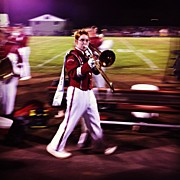 Music Art - Wes In His Last Marching Uniform Game by Kate Timmons