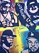 Rap Music Painting Originals - Wessiders by Tony B Conscious