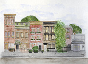 Greenwich Village Paintings - West 11th St in Greenwich Village by Lynn Lieberman