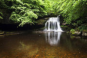 Burton Framed Prints - West Burton Waterfall in Summer Framed Print by Mark Sunderland