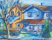 Old Houses Drawings - West Cape May NJ by Eric  Schiabor