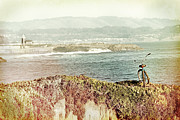 Antique Digital Art Prints - West Cliff Wandering Print by Paul Topp