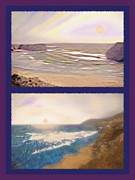 Sandy Beaches Mixed Media Prints - West Coast Diptych 4 - Multicolored Print by Steve Ohlsen