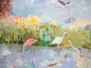 Yellow Beak Paintings - West Coast Idyll by Elinor Fletcher