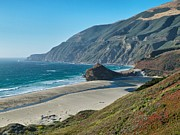 Big Sur Beach Framed Prints - West Coast Serenity Framed Print by Rob Wilson