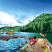Youth Hockey Art - West Coast Summer Hockey by Elizabeth Urlacher