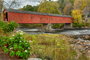 Housatonic River Posters - West Cornwall Covered Bridge Poster by Bill  Wakeley