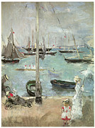 Transportation Painting Posters - West Cowes Isle of Wight Poster by Berthe Morisot