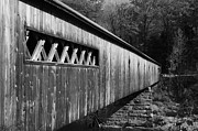 White Blocks Framed Prints - West Dummerston Covered Bridge Framed Print by Luke Moore