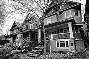 Townhouses Photos - west end old wooden townhouses Vancouver BC Canada by Joe Fox
