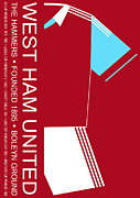 Home Football Game Posters - West Ham United Premier League Football Club Poster by Neil Finnemore