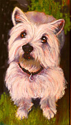 Dog Drawings Framed Prints - West Highland Terrier Reporting for Duty Framed Print by Susan A Becker