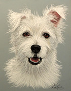 Featured Pastels Metal Prints - West Highland Terrier Metal Print by Ruth Jamieson