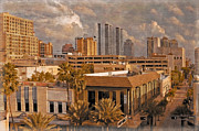 Rooftop Prints - West Palm Beach Florida Print by Debra and Dave Vanderlaan