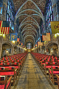 United States Military Prints - West Point Cadet Chapel Print by Dan McManus
