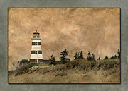 Wb Johnston Framed Prints - West Point Lighthouse 5 Framed Print by WB Johnston