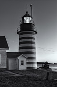 Maine Lighthouses Photo Posters - West Quoddy Head Light at Dawn II Poster by Clarence Holmes