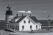 Flagpole Photos - West Quoddy Head Light II by Clarence Holmes