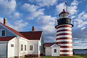 Lubec Framed Prints - West Quoddy Head Lighthouse Framed Print by John Greim