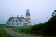 New England Lighthouse Digital Art - West Quoddy Lighthouse by Amanda Kiplinger
