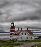 Quoddy Canvas Framed Prints - West Quoddy Lighthouse Framed Print by Jerry Fornarotto