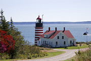 National Museum Of America History Framed Prints - West Quoddy lighthouse Framed Print by Jim  Wallace