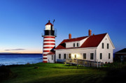 Lubec Framed Prints - West Quoddy Lighthouse Framed Print by John Greim