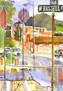 Water Colors Painting Originals - West Russell and Main by Kip DeVore