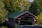 New England Acrylic Prints - West Swanzey Thompson Covered Bridge by Juergen Roth
