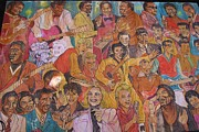 Allen Beatty Posters - West Third Street Mural 2 Poster by Allen Beatty