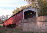 Rural Indiana Posters - West Union Bridge Poster by Robert Turner