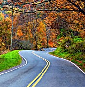 Us Open Art - West Virginia Curves 2 by Steve Harrington