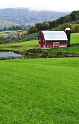 Board Fence Posters - West Virginia Farm in Fall Poster by Thomas R Fletcher