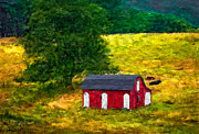 West Virginia Landscape Posters - West Virginia impasto Poster by Steve Harrington