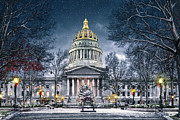 Wv Posters - West Virginia State Capitol Poster by Mary Almond