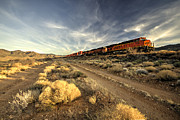 Bnsf Framed Prints - Westbound Freight  Framed Print by Rob Hawkins