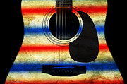 Western Abstract Prints - Western Abstract Guitar 1 Print by Andee Photography