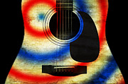 Western Abstract Prints - Western Abstract Guitar 2 Print by Andee Photography