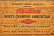 Old Shells Prints - Western Ammunition Box Print by Olivier Le Queinec