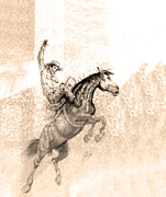 Bronc Prints - Western Art In Cuenca Ecuador Print by Al Bourassa